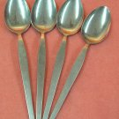STANLEY ROBERTS CROWN SRB 20 SRB20 4 PLACE SPOONS STAINLESS FLATWARE SILVERWARE