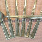 NATIONAL N.S. CO FINALE 7 TEASPOONS STAINLESS FLATWARE SILVERWARE