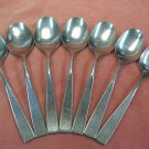 ROGERS Co ALISON or DENMARK 7 PLACE SPOONS STAINLESS FLATWARE SILVERWARE