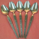 RIVIERA CORDOVA 5 PLACE SPOONS STAINLESS FLATWARE SILVERWARE