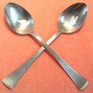 BARCLAY GENEVE BAG  2 BAG2 ST MORITZ 2 PLACE SPOONS STAINLESS FLATWARE SILVERWARE