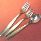 GOURMET SETTINGS LOFT SATIN GS 2 FORKS 1 SPOON STAINLESS FLATWARE SILVERWARE