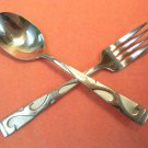ONEIDA TUSCANY PLACE SPOON & FORK SILVERWARE STAINLESS FLATWARE SATIN 18/10