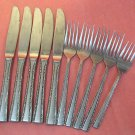 TOWLE TWS 120 TWS120 5 FORKS &5 KNIVES STAINLESS FLATWARE SILVERWARE