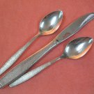 ONEIDA 1881 ROGERS MONTINA INDIO PLACE KNIFE &2 TEASPOONS STAINLESS FLATWARE SILVERWARE