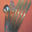 ONEIDA PASADENA SPOON 4KNIVES &2 FORKS NORTHLAND 7pc STAINLESS FLATWARE SILVERWARE