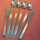 GOTTLIEB-HAMMESFAHR unknown pattern 4 ICE TEASPOONS &2 SPREADERS STAINLESS FLATWARE SILVERWARE