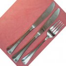 ROGERS CO COUNTRY SHELL FORK &2 KNIVES STAINLESS FLATWARE SILVERWARE
