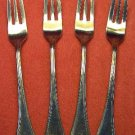 INTERNATIONAL MASTERPIECE 4 SEAFOOD OLIVE FORKS STAINLESS FLATWARE SILVERWARE