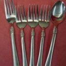 CAMBRIDGE CODIE Place Spoon & Fork &3 Salad Forks STAINLESS FLATWARE SILVERWARE