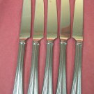 REED & BARTON MARIA LUCIA 5 KNIVES STAINLESS FLATWARE SILVERWARE
