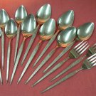 ONEIDA SHADOW WEAVE 13pc WEST BEND STAINLESS FLATWARE SILVERWARE