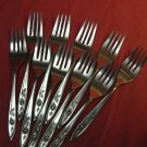 ONEIDA MY ROSE 10 SALAD FORKS COMMUNITY STAINLESS FLATWARE SILVERWARE