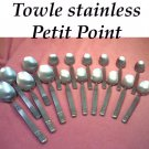 TOWLE PETIT POINT 31pc SUPREME CUTLERY STAINLESS FLATWARE SILVERWARE