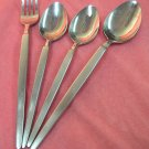 STANLEY ROBERTS SILVER ASTRO SRI FORK &3 SPOONS STAINLESS FLATWARE SILVERWARE