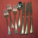 ONEIDA LEDGES 7pc STAINLESS FLATWARE SILVERWARE