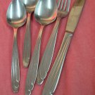REED & BARTON ELISE FORK KNIFE &3 SPOONS SELECT STAINLESS FLATWARE SILVERWARE