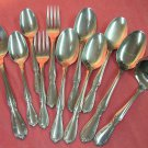 INTERNATIONAL VICTORIAN MANOR CHARMAINE 11pc STAINLESS FLATWARE SILVERWARE