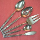 STANLEY ROBERTS CROWN EVENING LACE 5 SERVING STAINLESS FLATWARE SILVERWARE