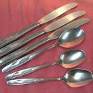 INTERNATIONAL WHISPERING LEAVES AUTUMN LEAF 3SPOONS 3KNIVES ROGERS STAINLESS FLATWARE SILVERWARE