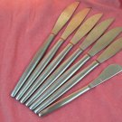 KALMAR DESIGN ITALY KLD 1 KLD1 SPREADER &6 KNIVES SATIN STAINLESS FLATWARE SILVERWARE