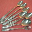 ONEIDA PARADE OLIVE FORK &6 SPOONS THOR STAINLESS FLATWARE SILVERWARE