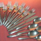 INTERNATIONAL unknown pattern 19pc SUPERIOR STAINLESS FLATWARE SILVERWARE