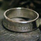 CUSTOM 90% SILVER DOUBLE SIDED FRANKLIN COIN RING size 7-13