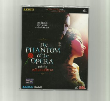 THE PHANTOM OF THE OPERA GERARD BUTLER EMMY ROSSUM MOVIE DVD 2004 THAI LANGUAGE