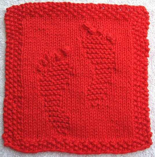 Red Footprints Cloth
