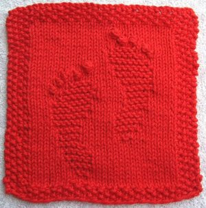 Red Footprints Cloth