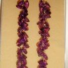 Purple Beaded Earring