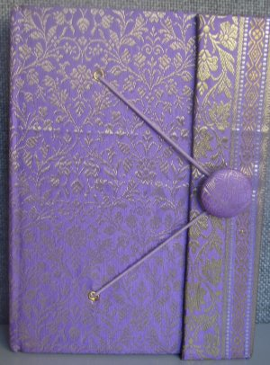 Indian Fabric Cover Handmade Paper Journals- Purple