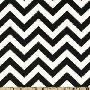 TABLE RUNNER - ZigZag Black/White Chevron Print
