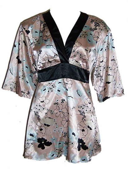 Flora Nikrooz Peach Prints Short Robe Loungewear XL