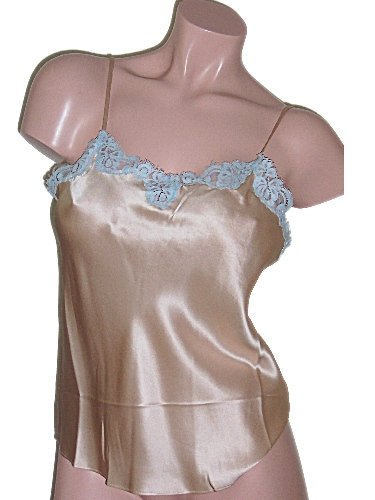 Viamode Tan Silk Camisole Cami Medium