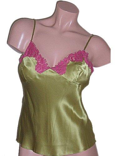 Viamode Green Silk Camisole Cami Small
