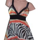 Tricia Fix Jungle Print Babydoll Couture Top Small