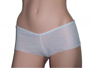 Baby Phat White Boyshort Mesh Panty Panties Medium