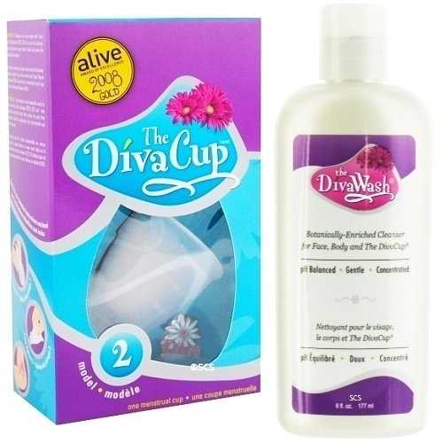 Diva Cup - Model 2 DivaCup Menstrual Solution AND DivaWash - Diva Cup PLUS Diva Wash
