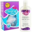 Diva Cup - Model 2 DivaCup Menstrual Solution AND DivaWash - Diva Cup PLUS Diva Wash