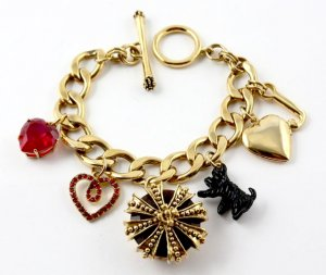 Juicy Couture Golden Crown Bracelet with 6 Charms