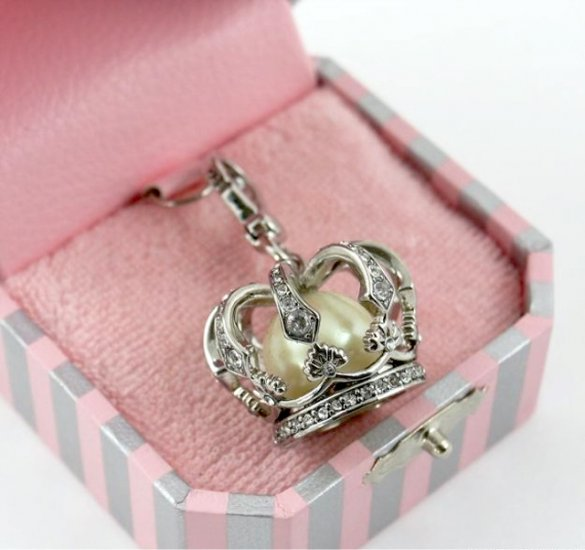 Juicy Couture Silver Crown Charm