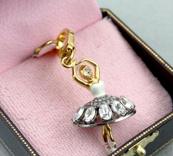 Juicy Couture Pave Ballerina Charm