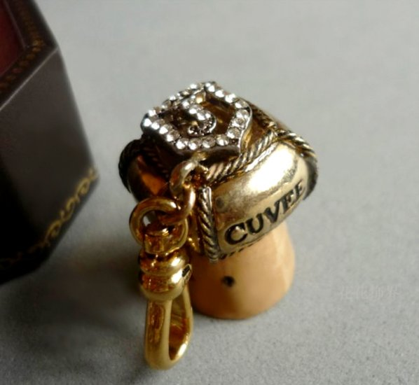 Juicy Couture Original Champagne Cork Charm (Retired)