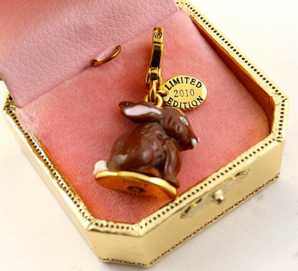 Juicy Couture 2010 Limited Edition Chocolate Bunny Charm