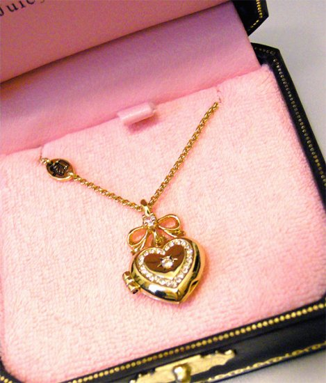 Juicy Couture Wishes Heart Locket Necklace