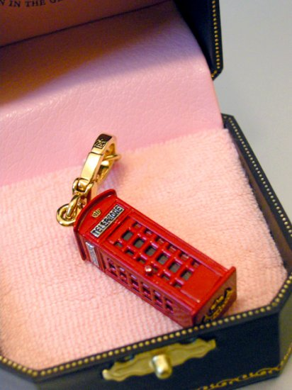 Juicy Couture Phone Booth Charm