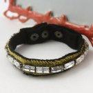 Juicy Couture Rhinestone and Velvet Bracelet (Yellow)