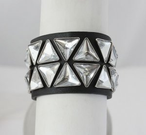 Juicy Couture Silver Pyramid Studded Cuff
